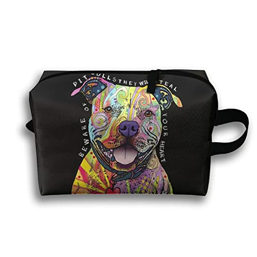 6fe70629bad0 Amazon.com: Colors Print Pitbull Travel Bag Cosmetic Bags Brush ...