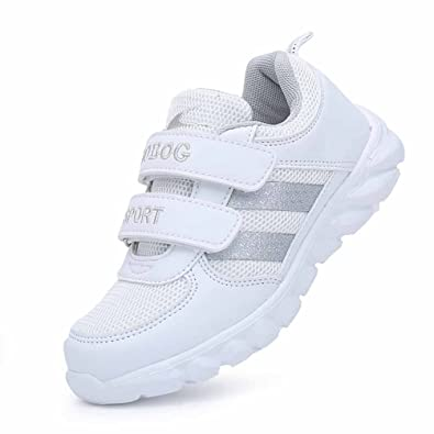 Qianliuk Unisex Kinderschuhe Low-Top Velcro Mode Atmungsaktive Mesh-Oberteil Athletic Casual Running Sneakers...