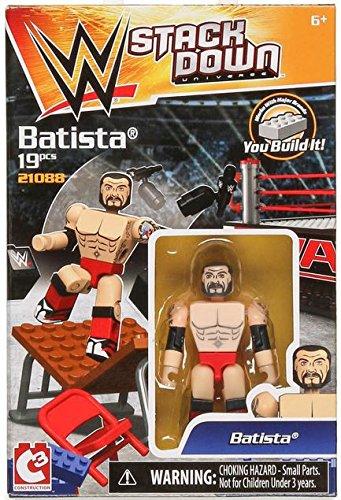Batista WWE Stackdown C3 Mini Figure 19 piece by Bridge Direct
