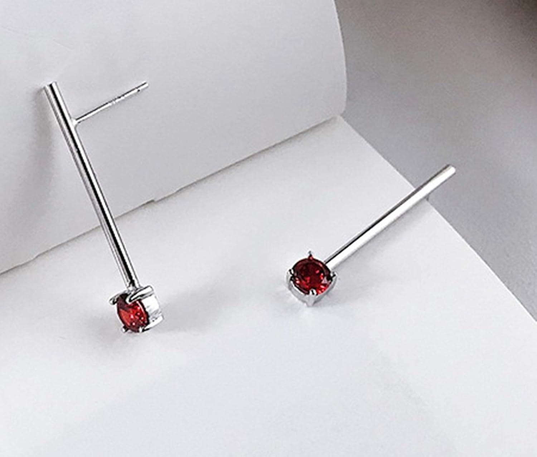 Epinki 925 Sterling Silver Women Stud Earrings Cubic Zirconia Earrings Silver