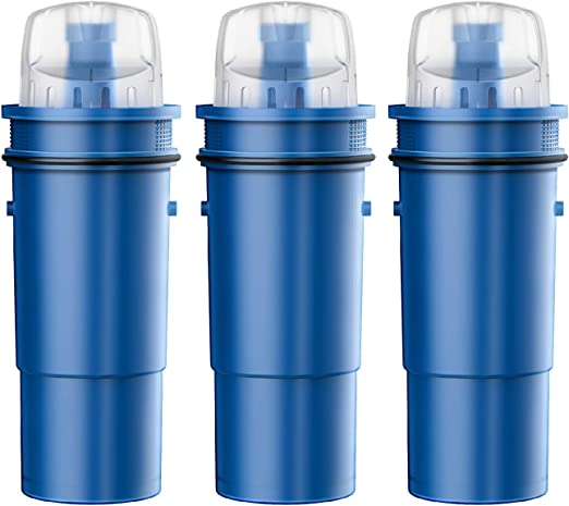 PURELINE CRF950Z Water Pitcher Filter Replacement Compatible with PUR CRF950Z and Most PUR Pitchers and Dispensers 4 Pack