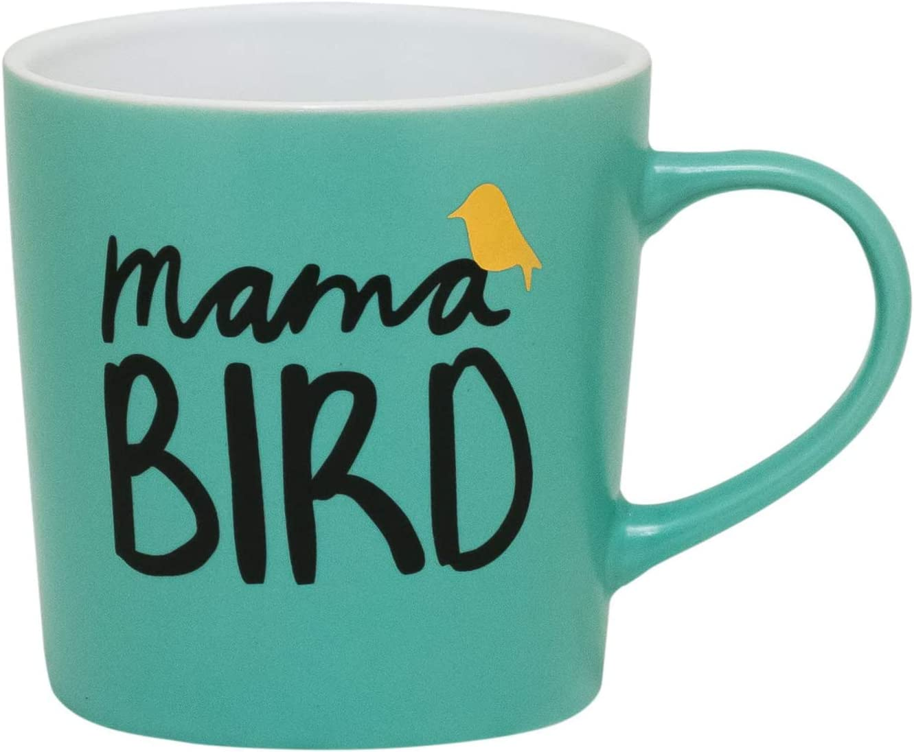 Amazon Com Teal Coffee Mug Mamma Bird Kitchen Dining