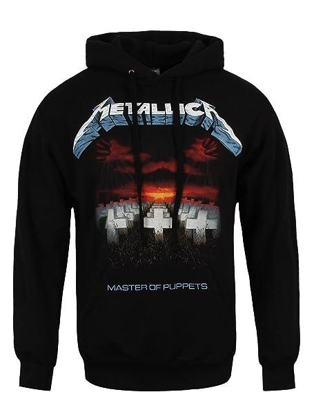 Metallica Master of Puppets Sudadera con Capucha Negro: Amazon.es: Ropa y accesorios