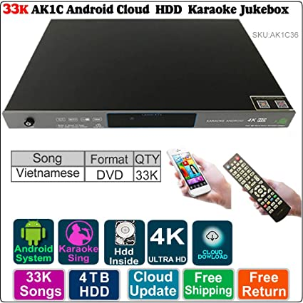 Amazon com: ACEUME AK1C Android Cloud Karaoke Jukebox Player with