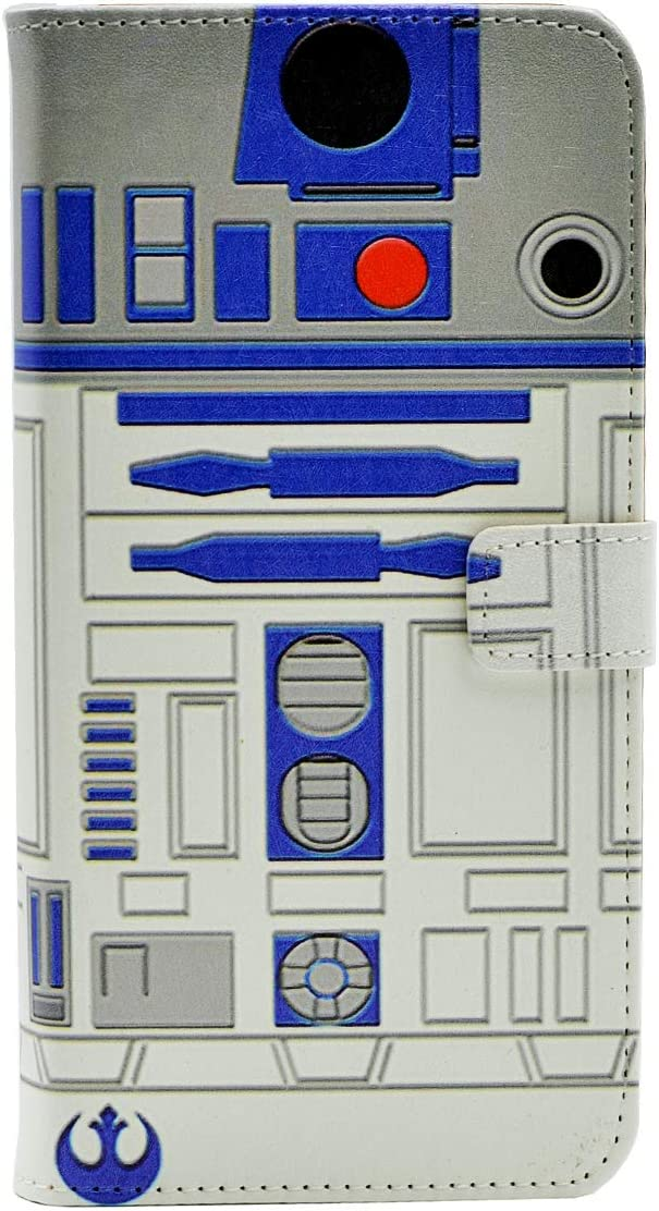 TPACC Case for iPhone 12 - R2D2 Astromech Droid Robot Pattern Leather Flip Wallet Slim Case Card Holder Stand Shockproof Protector TPU Cover for iPhone 12,iPhone 12 Pro 6.1''