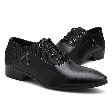 YAN Zapatos de Vestir para Hombres, Zapatos con Punta de ...