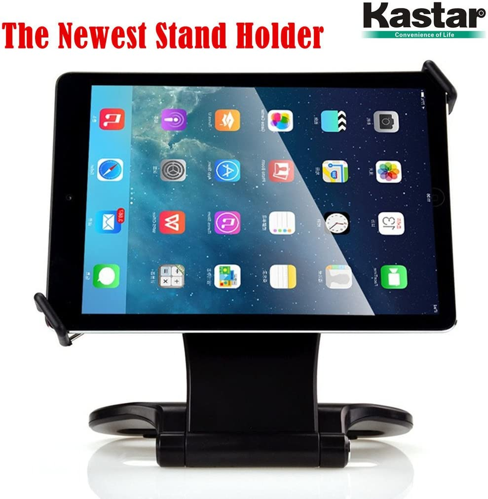 "Kastar 360 Swivel Rotating Stand Holder Tabletop Stand with Collapsible Base for All iPad Series: iPad1, iPad2, iPad3, iPad4, iPad Mini, iPad Air, Samsung Galaxy Tablets and 7""-10"" Tablet PC (Black)"