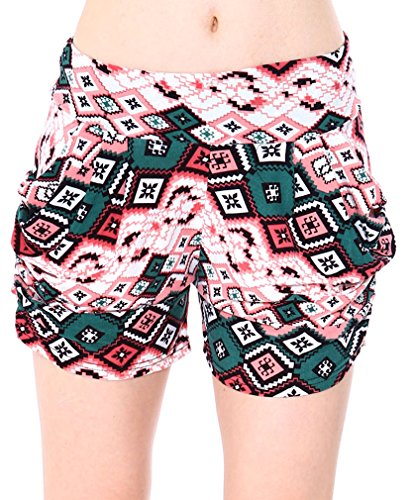 Simplicity® Women Mix Print Harem Style Shorts with Side Pockets