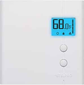 Stelpro STE402NPWB+ Line Voltage, Set Back Thermostat, 150 W to 1250 W @ 120 V, 300 W to 2500 W @ 240 V, White