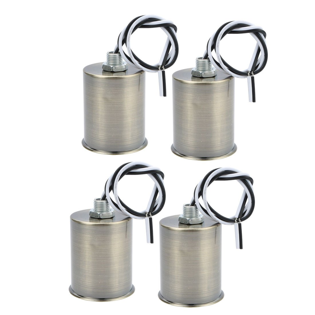 uxcell 4pcs E27 Screw Bulb Base Light Socket Medium Base Porcelain Lamp Holder Bronze Tone