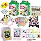 Fujifilm instax mini 8 & mini 9 Camera Accessory KIT includes - Fuji Instant Film 40 SHEETS + Premium Over 60 PCS bundle for fujifilm instax mini 8 & mini 9 Films