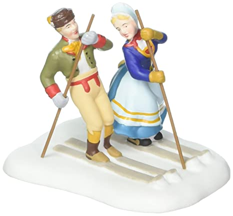Amazon.com: Departamento 56 Alpine village Figura Love On ...