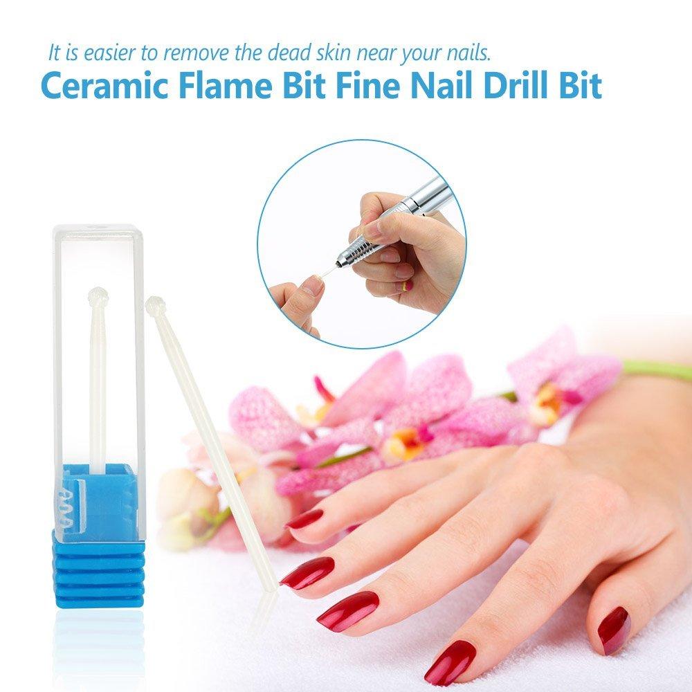 Amazon.com: Docooler® Nail Drill Bits Manicure Round Bits Grinding ...