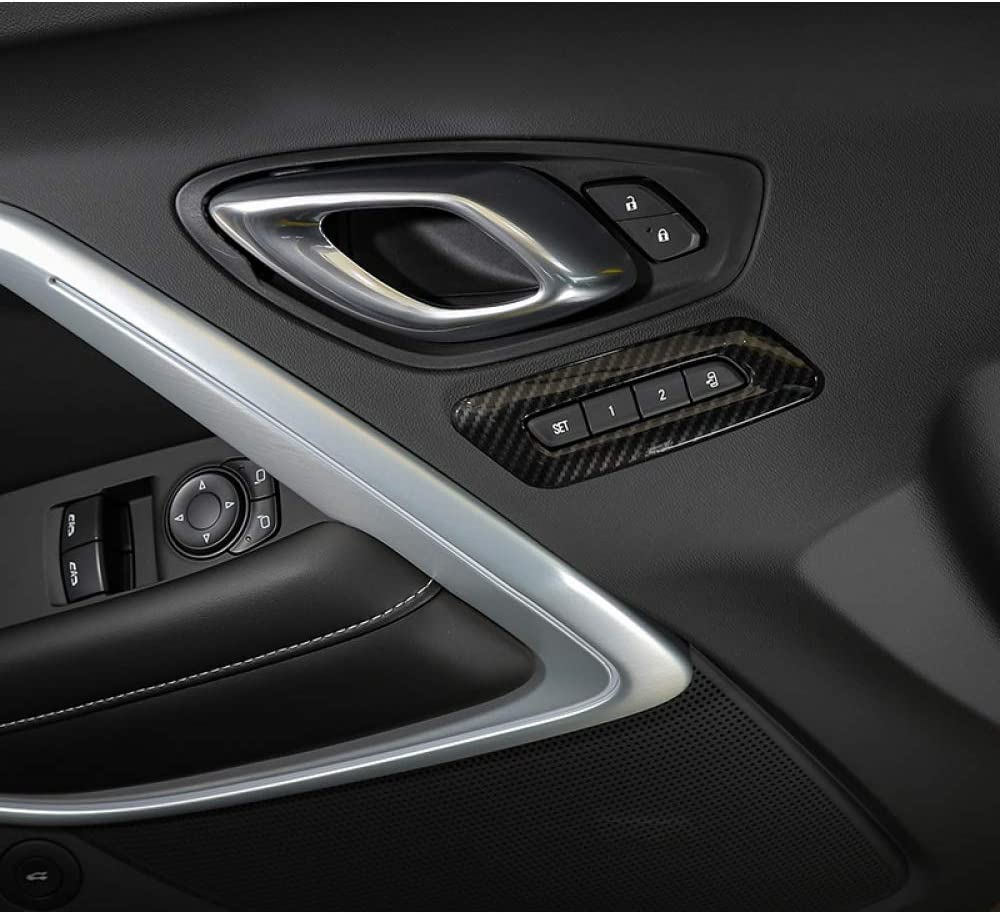 Auto-Innendekorations-Kits Memory Seat Controls Schalter Cover L/ünette Panel Frame JIERS f/ür Chevy Camaro 6th Gen 2017+