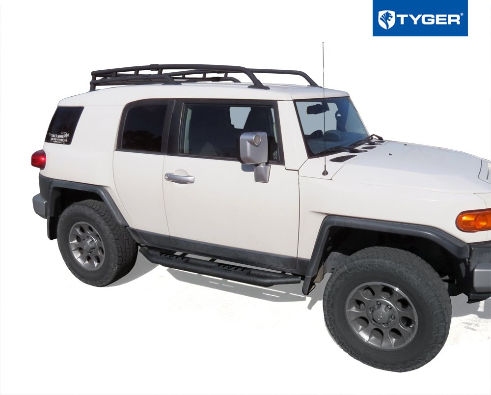 Amazon.com: Tyger Auto TG-AM2T20068 Star Armor Kit (for 2007-2014 Toyota FJ  Cruiser SUV | Textured Black | Side Step | Nerf Bars | Running Boards): ...