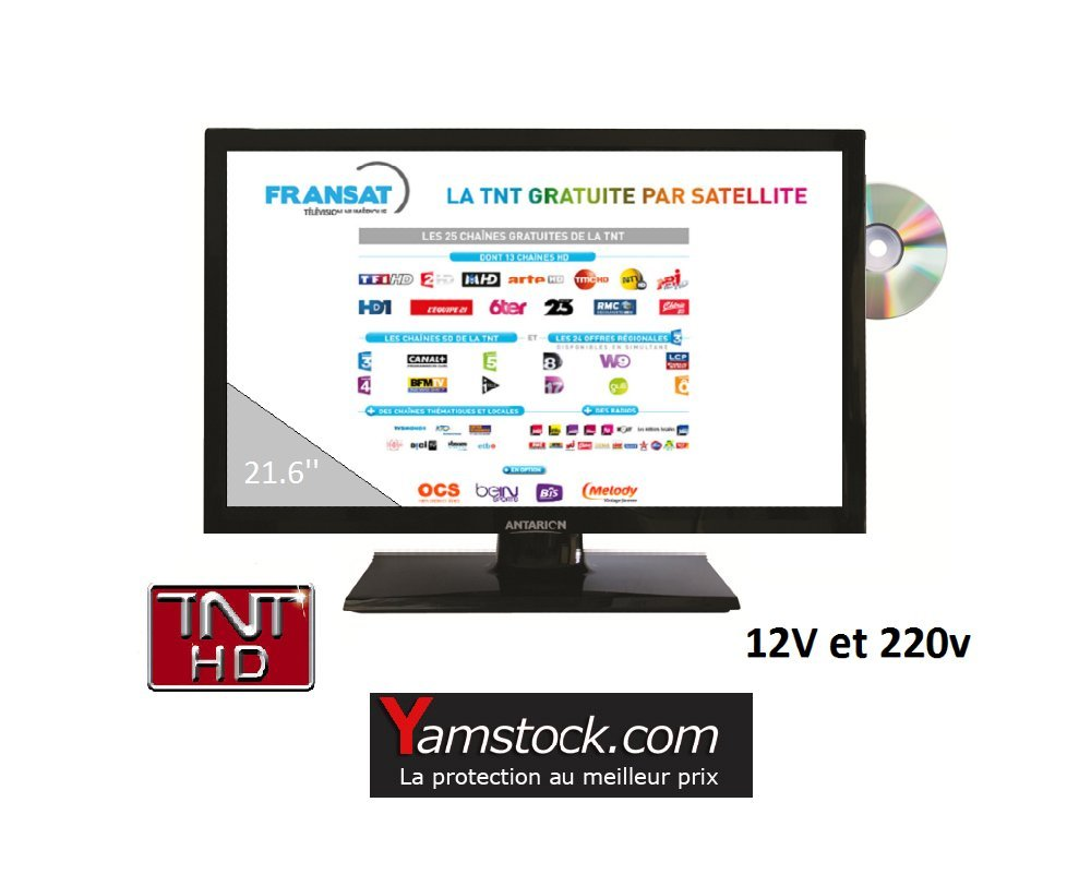 Televisión TV HD + DVD 21.6 + Demo Satellite Fransat ...