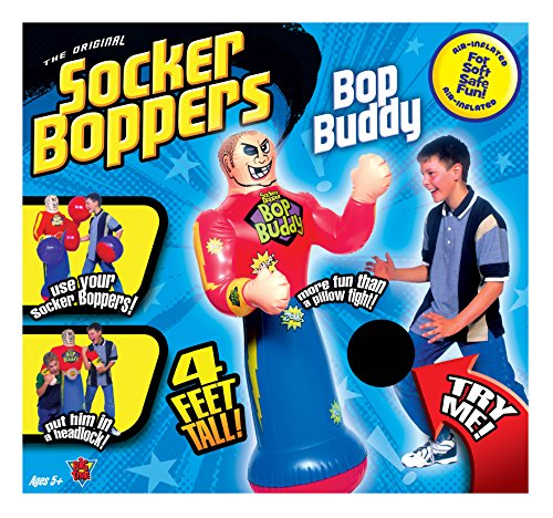 Socker Boppers Bop Buddy - Standing Inflatable Talking Punching Bag for Kids