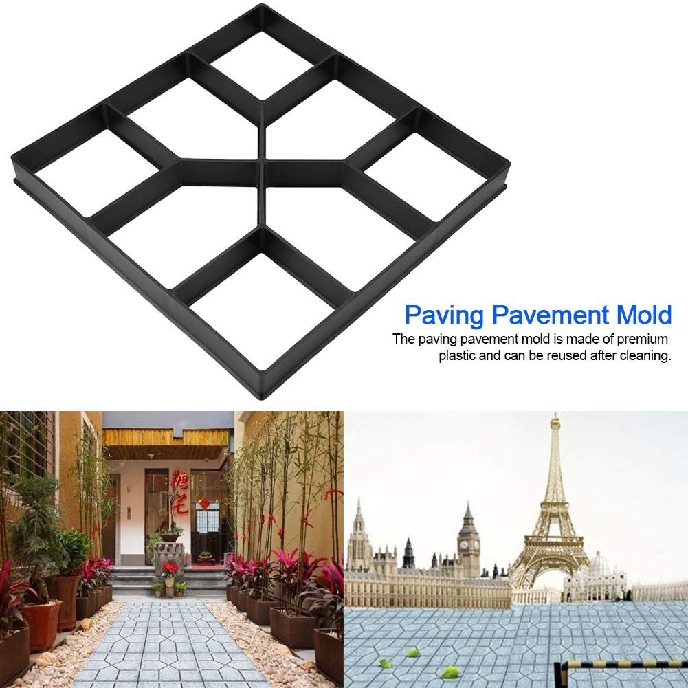 Drgger Molde de pavimento - Pavimento de pavimento Molde de concreto, Molde de Piedra Paso a Paso, Camino de la pavimentadora de césped del jardín.
