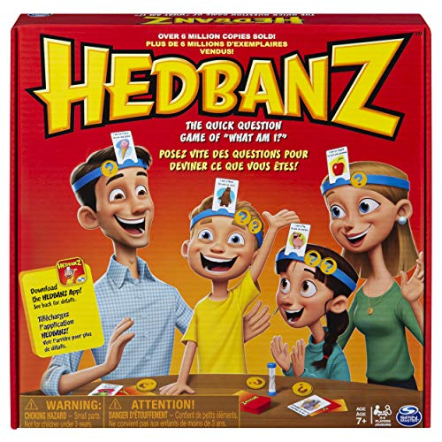 HedBanz Family Quick Question Guessing Board Game (Edition May Vary) (Fun Games To Play With 6 People)