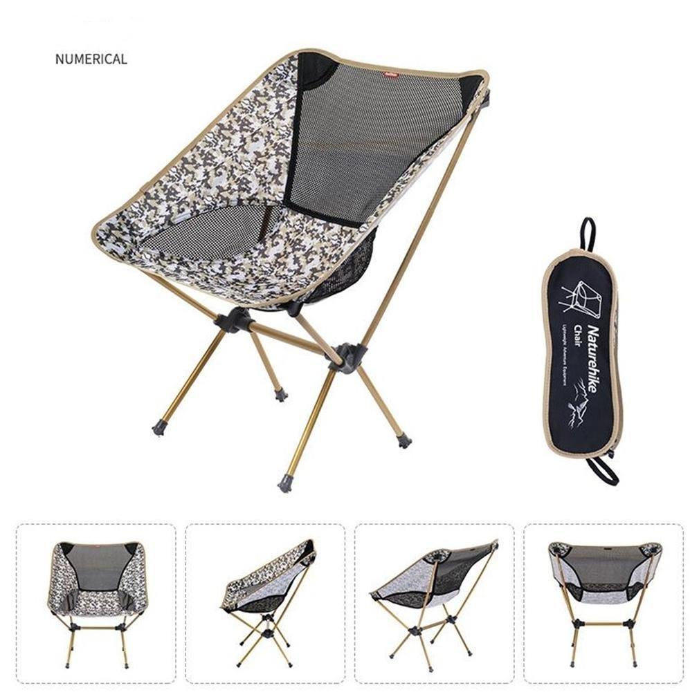 TTYY Moon Stuhl im Freien Klappstuhl wasserdicht verschleißfesten Angeln Camping