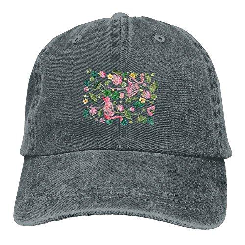 Buecoutes Flamingo and Flower Vintage Cowboy Baseball Caps