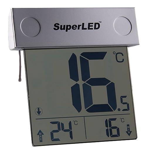 11 opinioni per SuperLED, termometro a energia solare da finestra per esterno