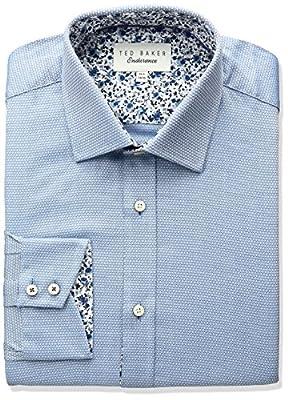 Ted Baker Men's Slim Fit Lohan Solid Dress Shirt
