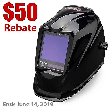 Lincoln eléctrica Viking 3350 negro casco de soldadura con tecnología de la lente de 4 C