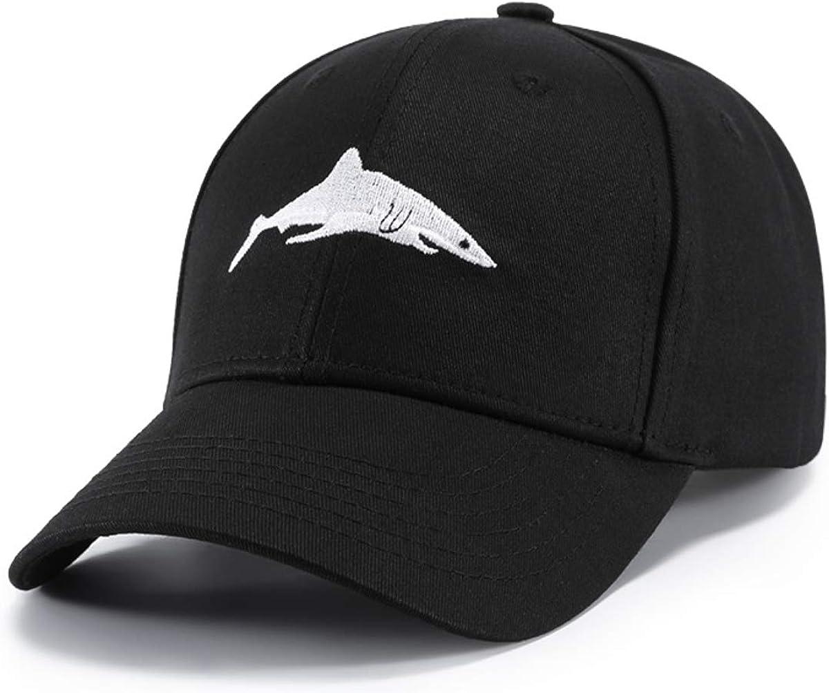 IMIKE Shark Baseball Cap Adjustable Plain Cotton Dad Hat Black