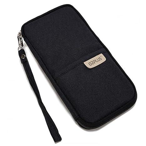 9c969d597e passaporto portafoglio da viaggio borsa durevole borsa portaoggetti  organizer con cerniera borsa in tela con cinghia ...