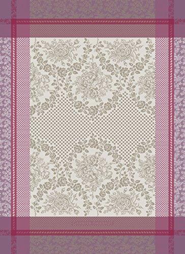 Garnier-Thiebaut, Symphorine Azalee (Snowberry Azalea) French Kitchen / Tea Jacquard Towel, 100 Percent - Cotton Snowberry