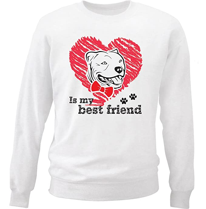 teesquare1st Pitbull IS MY Best Friend Sudadera: Amazon.es: Ropa y accesorios