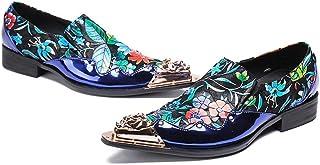 Mr.Zhang's Art Home Men's shoes Chaussures de Couleur été Casual Respirant Hommes Fleur Chaussures de Coiffeur