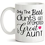 11 oz Coffee Mug by Groovy Giftables - Only The Best Aunts Get Promoted To Great Aunt 001
