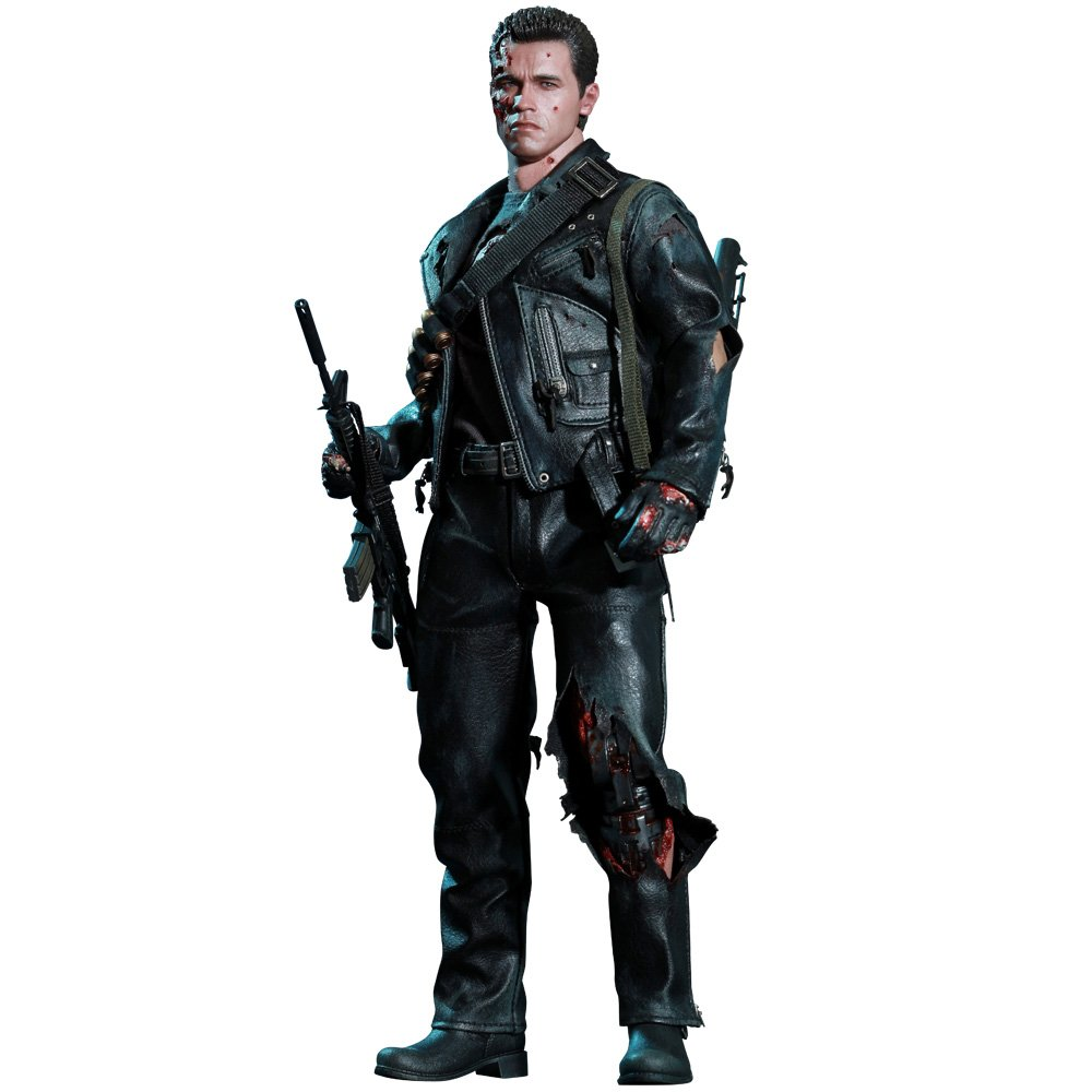 SIDESHOW/HOT TOYS DX SERIES 1:6 SCALE 2 TERMINATOR 2 SCALE JUDGEMENT DAY BATTLE DAMAGED T-800 DELUXE ACTION FIGURE w/T-1000 STATUE NEW 901980 58eefa