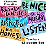 Character Topics SET #1 - set of 12 posters