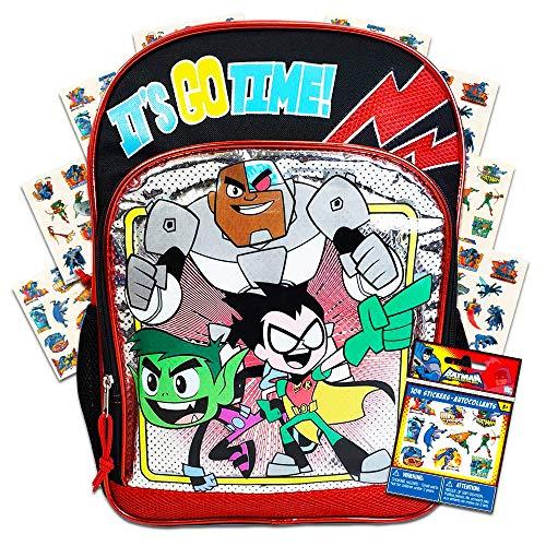 Teen Titans Go Backpack for School Kids ~ Deluxe 16
