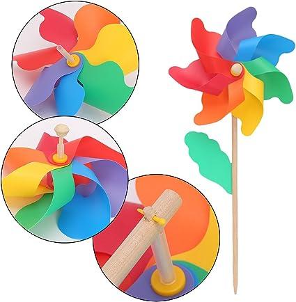 WIFE - Molinillo de viento para jardín, jardín, jardín, fiesta, decoración de juguetes para niños: Amazon.es: Oficina y papelería