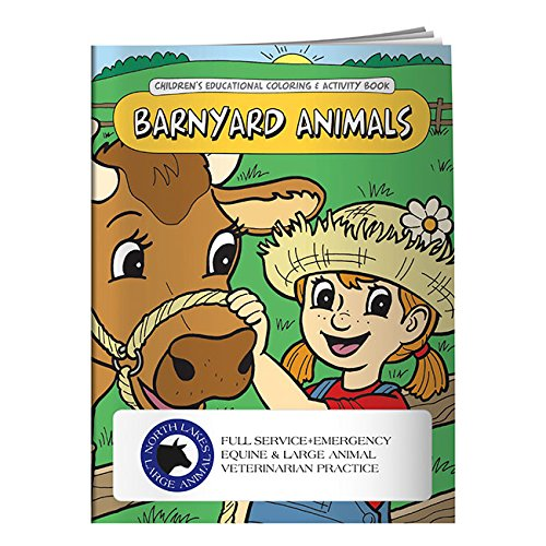 (BIC Graphic Coloring Book: Barnyard Animals White 500 Pack)