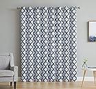 HLC.ME Lattice Print Thermal Grommet Blackout Patio Door Window Curtain for Sliding Glass