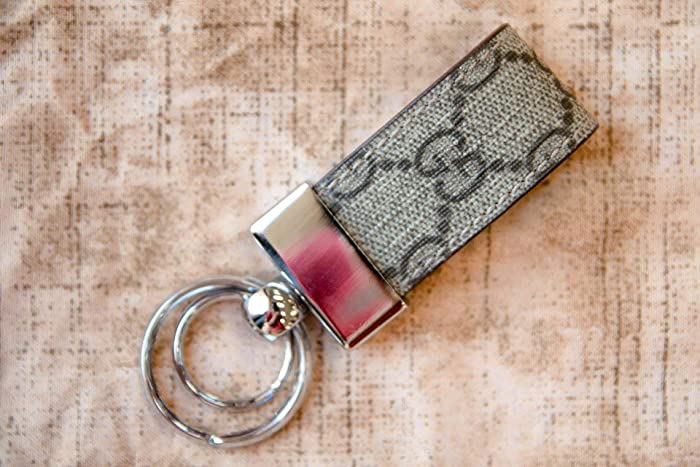 652846153bc Amazon.com  Gucci Monogram Leather Keychain HandMade by ...