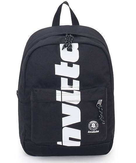 2813120ab9 ZAINO INVICTA - CARLSON - Nero logo - tasca porta pc padded - americano 27  LT