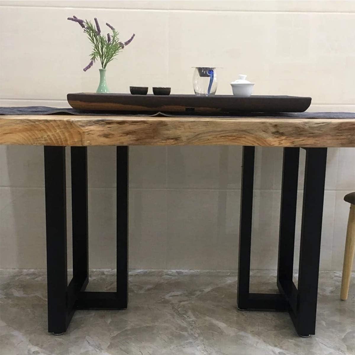 "MDEPYCO 2 Pack Industrial Rustic Furniture Legs 28"" H x 17.7"" W Decory T Shape Table Legs,Heavy Duty Metal Desk Legs,Dining Table Legs, DIY Brackets Bench Legs(Only Legs Without Board, Black)"
