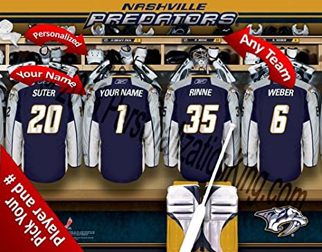 Image Unavailable. Image not available for. Color  Nashville Predators Team Locker  Room ... b939dfeda
