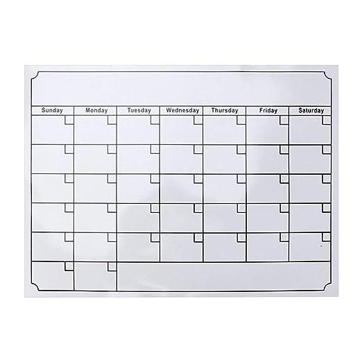 STOBOK Calendario magnético Gran Calendario de borrado en seco ...