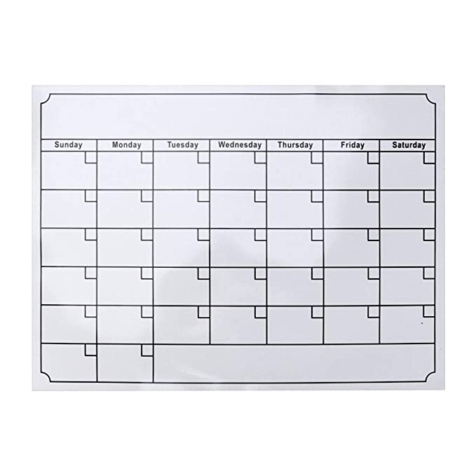 Toyvian Calendario de Nevera Magnética Tablero de Borrado en Seco ...