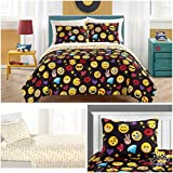 Emoji Pals Kids 7 Piece Queen Bedding Set