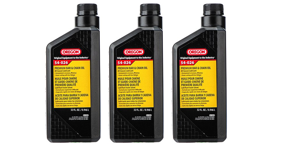 Oregon 54-026 Chain Saw LaJJy Bar And Chain Oil, black, 1 Quart (3 Pack) by Oregon