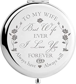 Amazon Com Didadic Wife Birthday Gift Ideas From Husband Wife Gifts For Anniversary Christmas Valentines Day Mothers Day Engraved Makeup Mirror For Her Best Wife Furniture Decor