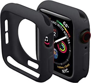 Miimall Compatible Apple Watch 42mm Case Series 2 & 3 Cover Case, Ultra-Thin Protective iwatch Bumper Cover Case for Apple Watch 42mm Black